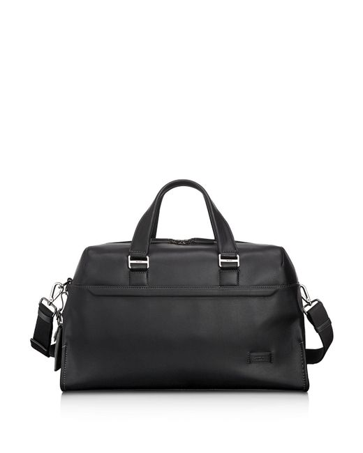Tumi | Black Harrison Leather Rockwell Day Duffel Bag for Men | Lyst