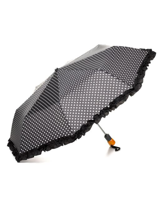 Bloomingdale's - Black Ruffle Dot Umbrella - Lyst