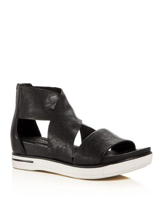 Eileen Fisher - Black Sport Open Toe Sandals - Lyst