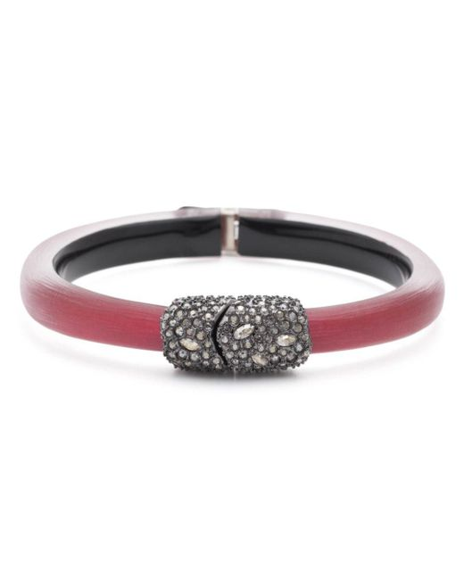 Alexis Bittar - Red Crystal Cluster Hinged Bangle Bracelet - Lyst