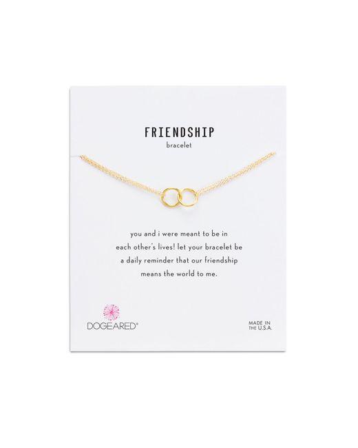 Dogeared | Metallic Double Link Rings Bracelet | Lyst