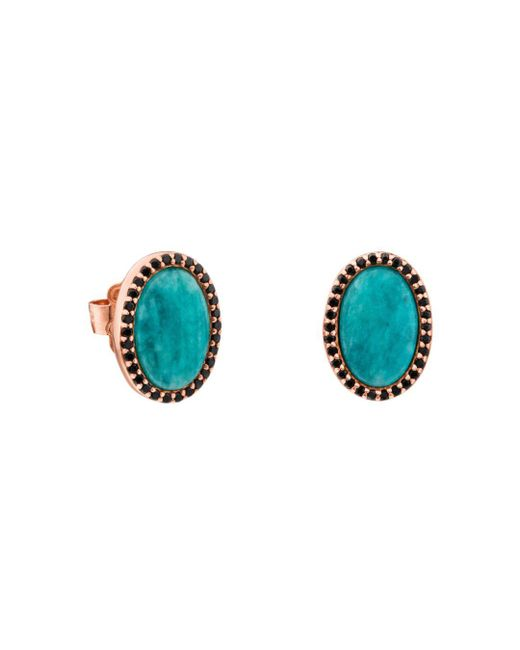 Tous - Blue Amazonite & Black Spinel Oval Stud Earrings - Lyst