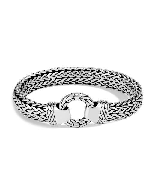 John Hardy - Metallic Men's Sterling Silver Classic Chain Ring Bracelet for Men - Lyst