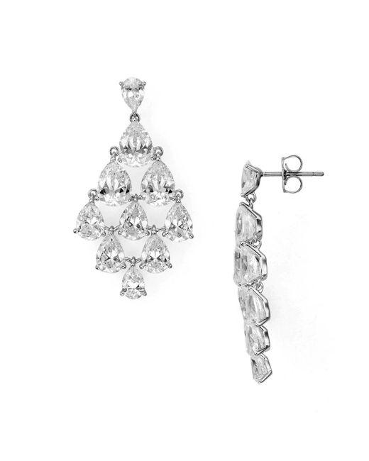 Nadri | Metallic Drop Chandelier Earrings | Lyst