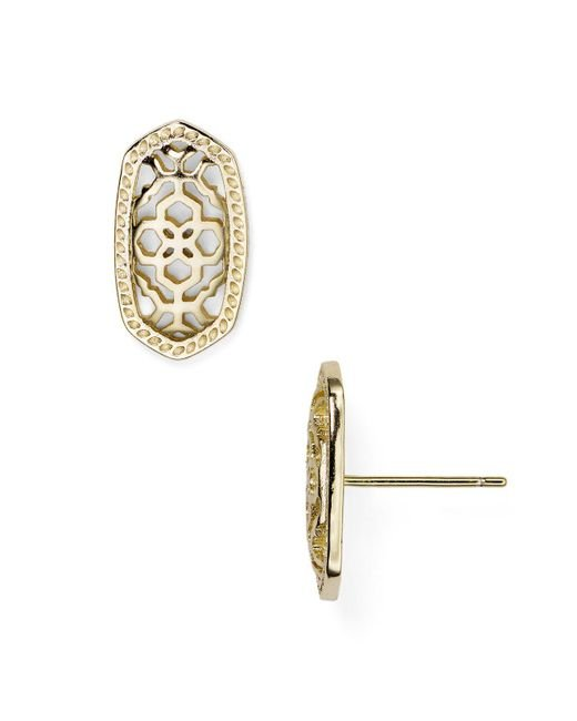 Kendra Scott | Metallic Filigree Ellie Stud Earrings | Lyst