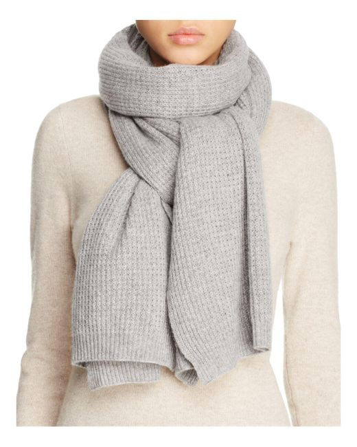 Vince | Gray Thermal Wool & Cashmere Scarf | Lyst