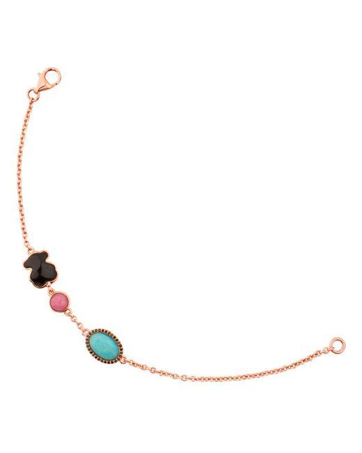 Tous - Pink Rhodonite & Amazonite Bracelet - Lyst