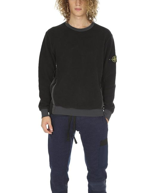 Stone Island - Black Crew Neck Sweatshirt for Men - Lyst