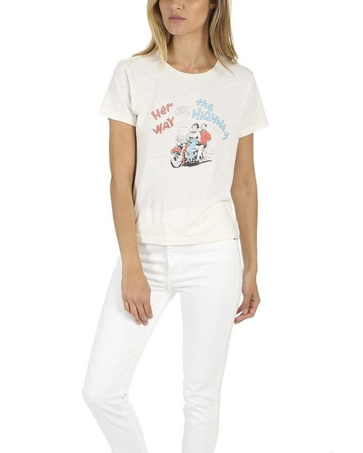 Re/done - White Her Way Graphic Classic Tee - Lyst