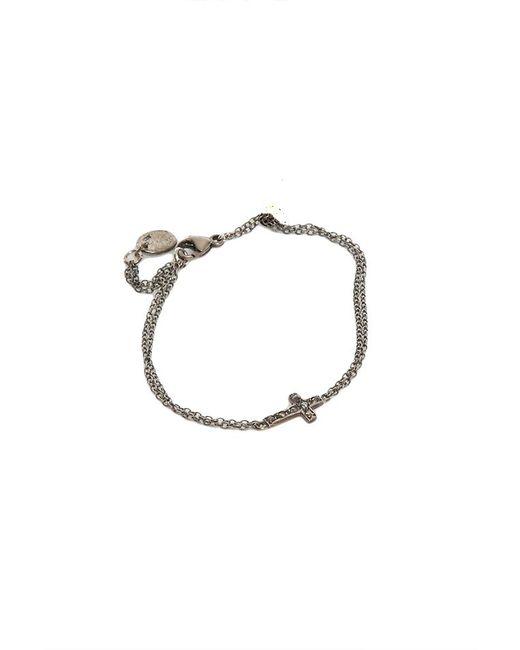Chan Luu - Blue Silver Diamond Cross Bracelet - Lyst