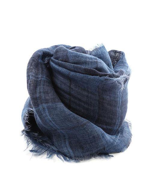 Destin - Blue Quadra Tartan Scarf - Lyst