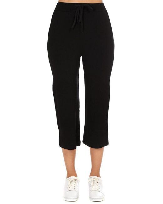 Majestic Filatures - Black French Terry Midi Pants - Lyst
