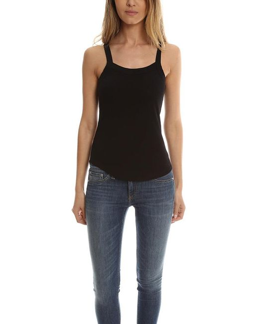 David Lerner - Black Aiden Rib Tank - - Lyst