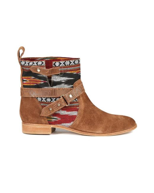 Cynthia Vincent | Brown West Ikat Engineer Boot | Lyst