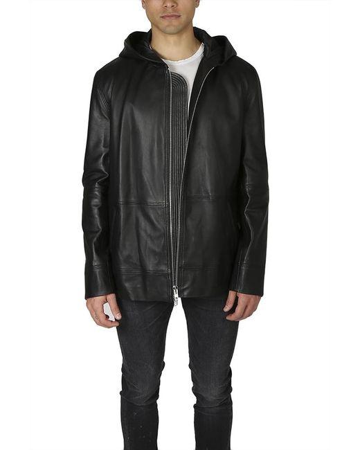 Public School - Black Kaiza Leather Hoodie for Men - Lyst