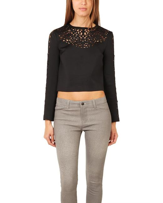 Clover Canyon - Black Laser Cut Top - Lyst