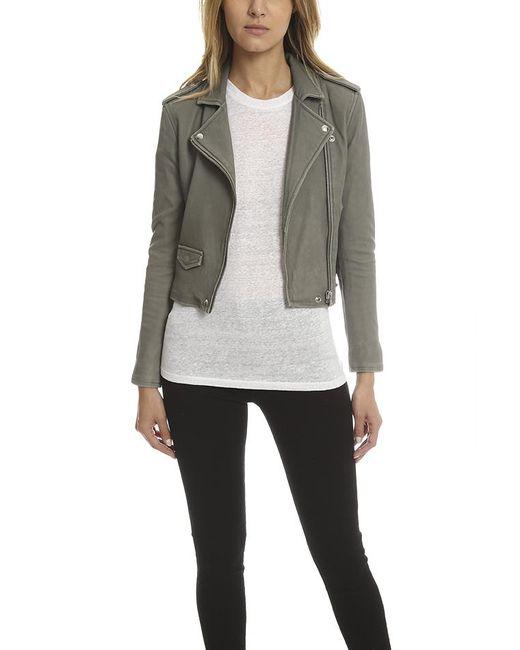 IRO - Gray Ashville Leather Jacket - Lyst