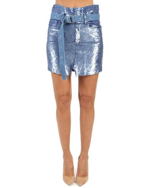 IRO - Blue Natou Skirt - Lyst