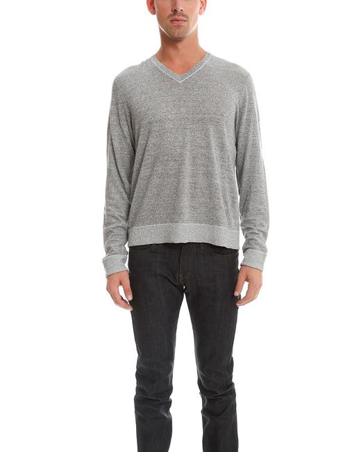 Rag & Bone - Gray Harding V Neck Sweater for Men - Lyst