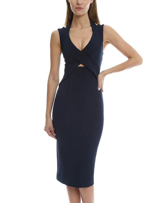 Nicholas | Blue Cross Halterneck Bandage Dress | Lyst