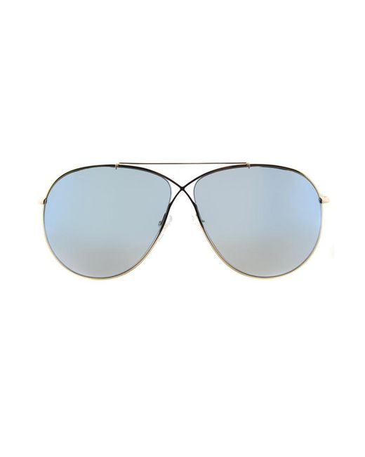 871cebfd85 Tom Ford - Metallic Eva Aviator Sunglasses - Lyst ...