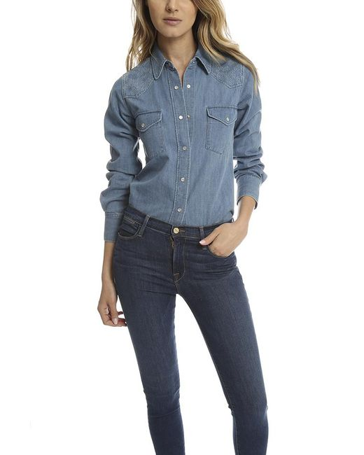 Lucien Pellat Finet - Blue Western Shirt - Lyst