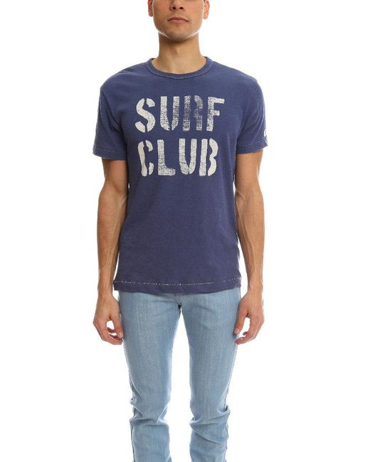 Todd Snyder - Blue Surf Club Royal Tee for Men - Lyst