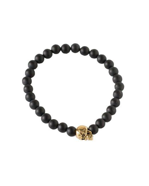 Duchess Of Malfi | Black Matte Onyx Skull Bracelet | Lyst