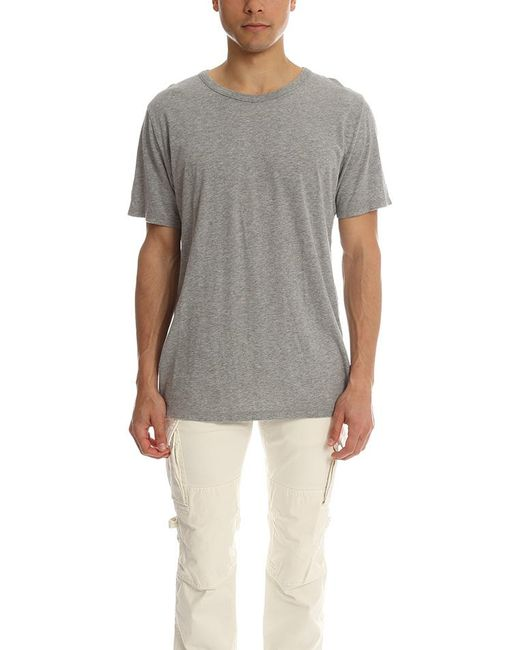 T By Alexander Wang - Gray Pima Cotton Classic T for Men - Lyst