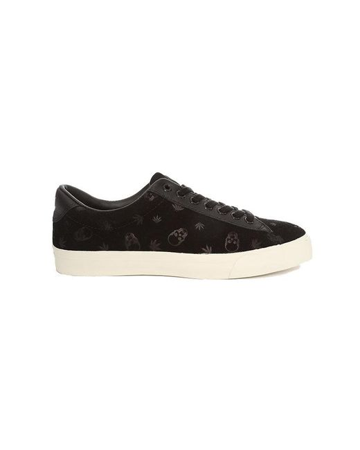 Lucien Pellat Finet - Black Monogram Suede Low Sneaker for Men - Lyst