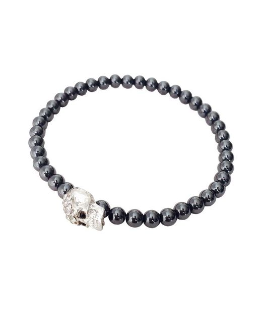 Duchess Of Malfi - Metallic Skull Bead Bracelet for Men - Lyst