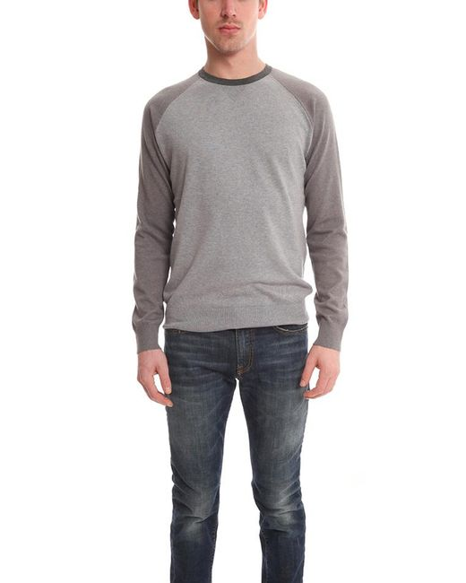Vince | Gray Colorblock Crewneck for Men | Lyst