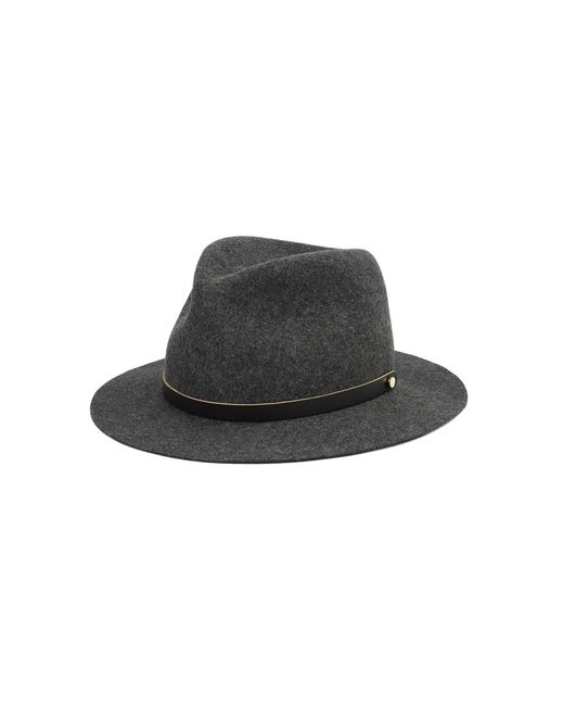 Rag & Bone | Black Packable Abbott Fedora for Men | Lyst