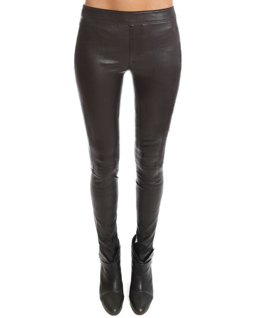 Helmut Lang | Black Leather Legging | Lyst