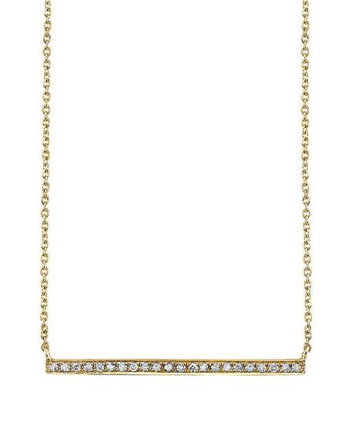 Sydney Evan   Metallic Long Micropave Bar Necklace   Lyst