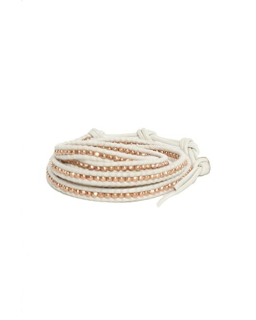 Chan Luu - White Rose Gold Wrap Bracelet - Lyst