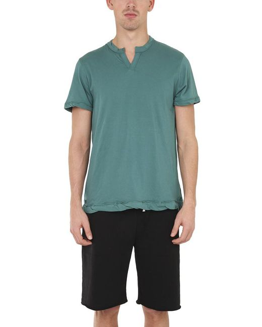 Alternative Apparel - Green Split Neck Tee for Men - Lyst