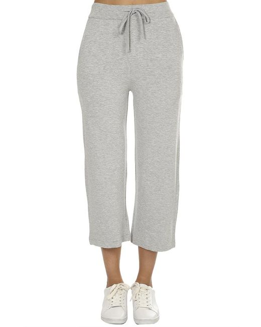 Majestic Filatures - Gray French Terry Midi Pants - Lyst