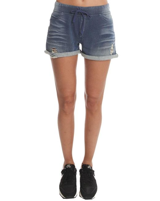 Pam & Gela - Blue French Terry Short - Lyst