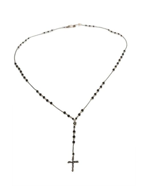 Chan Luu | Metallic Matte Onyx Cross Charm Necklace | Lyst