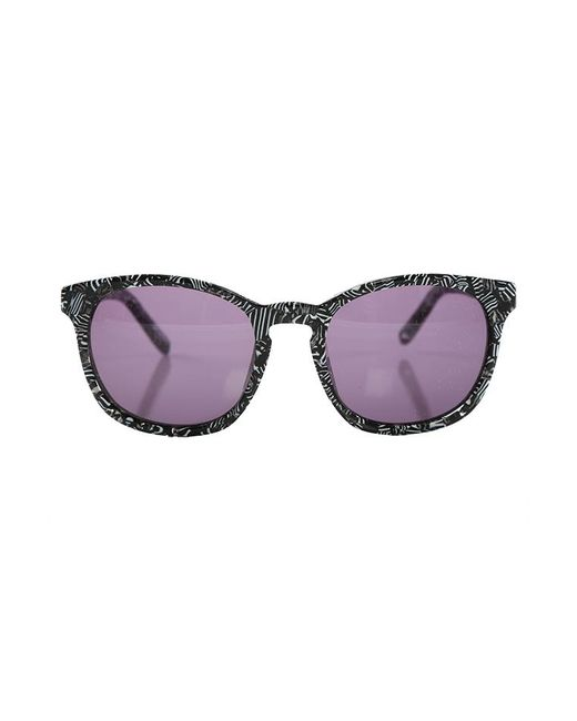 Linda Farrow - Multicolor Alexander Wang Zebra Print Curved Square Sunglasses - Lyst