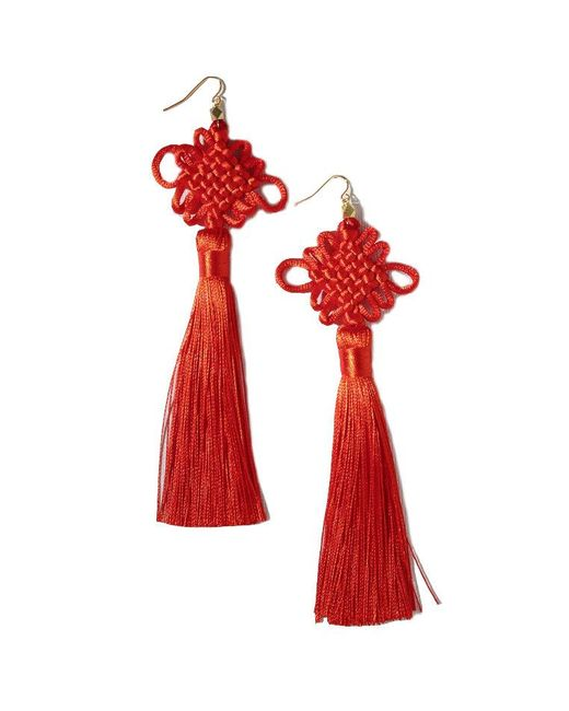 Vanessa Mooney - Red The Chinese Good Luck Tassel Earrings - Lyst