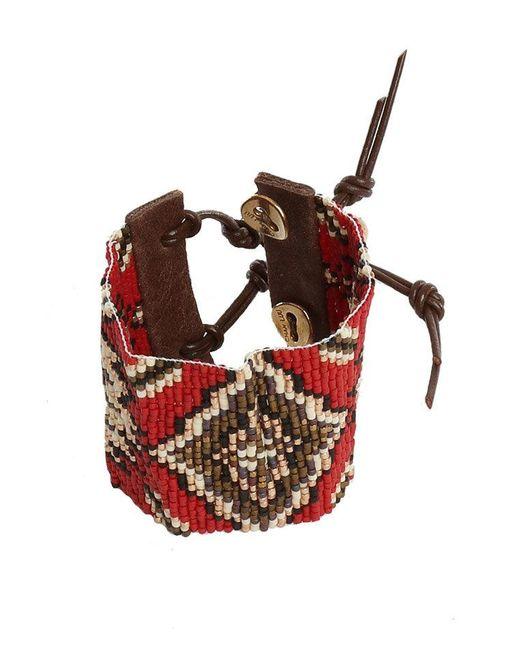 Chan Luu - Red Mix Bead Cuff Bracelet - Lyst