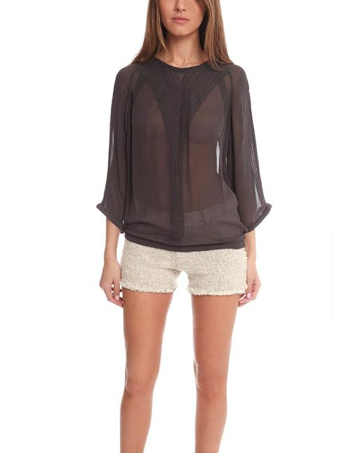 IRO | Gray Oprah Top | Lyst