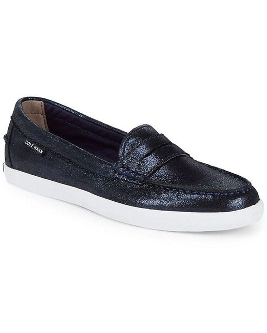 Cole Haan - Blue Round Toe Loafer - Lyst