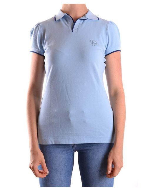 DSquared² - Women's Light Blue Cotton Polo Shirt - Lyst