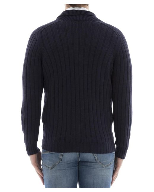 Drumohr Men's Light Blue Wool Cardigan in Blue for Men | Lyst