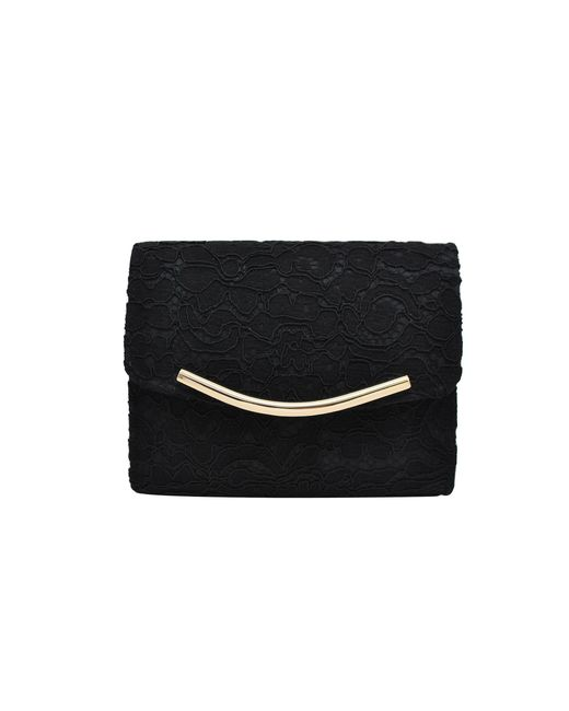 La Regale - Black Lace Flap Clutch - Lyst