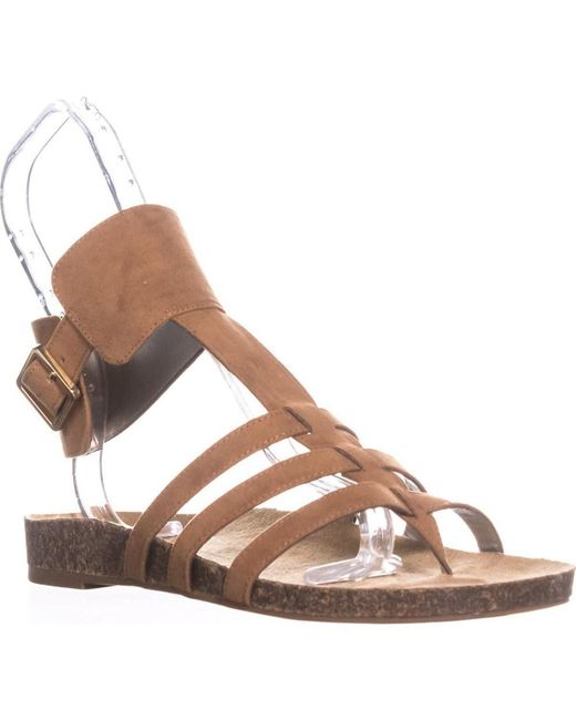 Sam Edelman - Brown Circus By Katie Ankle Strap Flat Sandals, Saddle - Lyst