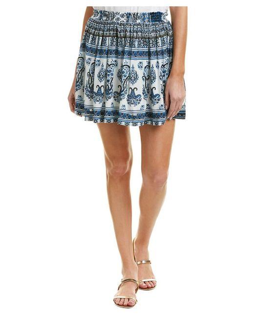 Raga - Blue Caravan Mini Skirt - Lyst